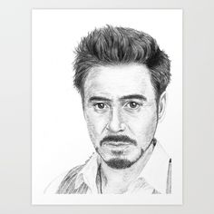 Robert Downey Jr. drawn by me. Buy it now!