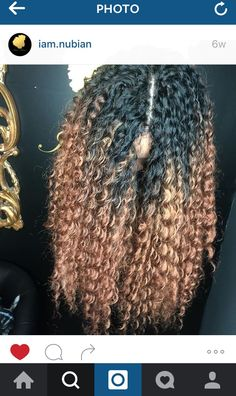 Deep Twist, long crochet, middle part, ombré crochet