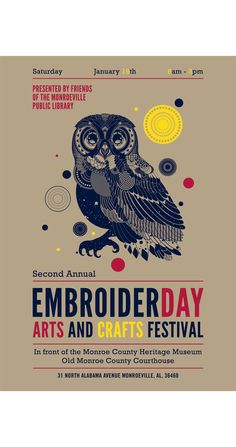 Event poster I created for Embroiderday in 2013.