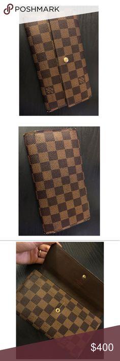 Authentic Louis Vuitton Damier Ebene Wallet! Good condition! See pics for details. Authentic. Louis Vuitton Bags Wallets