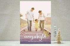 Ombre Tidings Holiday Photo Cards