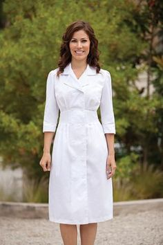 Peaches and Barco White Dresses for Nurses, Graduations and Church Groups - usher board groups - usher dresses - 58505 White Nurse Dress, White Dress, Nursing Dress, Nursing Clothes, White Scrubs, Scrubs Outfit, Nurse Costume, Uniform Dress, Ceremony Dresses