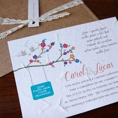 convite em papel semente