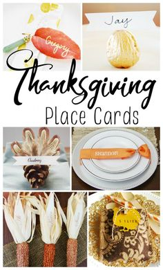 Easy DIY Thanksgiving place cards that you can make. #thanksgiving #thanksgivingcraft #thanksgivingdiy #diy #craft #placecards