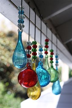 Phoenician Glass Suncatcher- Globe Hand-Blown in the word's oldest glass furnace located in the ancient Phoenician town of Serepta on the Southernmost coast of Lebanon, and mentioned by Homer in the O