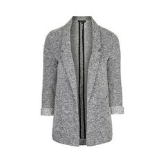 TopShop Jersey Boyfriend Blazer ($75) ❤ liked on Polyvore featuring outerwear, jackets, blazers, pale blue, topshop, tailored jacket, tailored blazer, topshop jacket and blazers jersey
