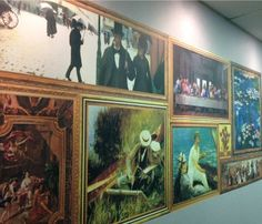 Paintings printed individually on CanvasTac and arranged together