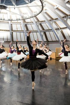Alice Renavand and other members of the Paris Opéra Ballet rehearsing Balanchine's Palais de Cristal, an early version of Symphony in C. POB will be dancing this soon. Photo by Agathe Poupeney.