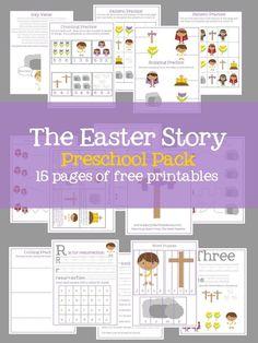 Free Printable Easter Story Preschool Pack