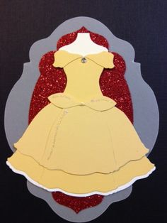 Punch Out Belle Dress #DIY #Disney #BeautyAndTheBeast
