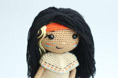 Half Double Crochet, Single Crochet, American Girl Crochet, Native American Girls, Indian Dolls, New Dolls, Cute Pattern, Yarn Needle, Crochet Toys
