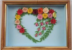 Picture, pictures, graphic Quilling: Heart, you do not want peace ...  Paper.  Photo 1