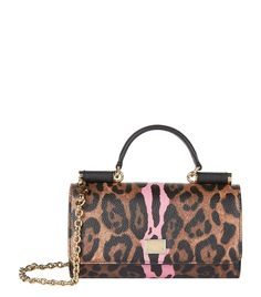 Dolce & Gabbana Sicily Phone Bag Leopard/Pink | Harrods.com