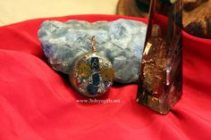 Eyes of Truth Pendant Chi Activated with Tiger Eye, Lapis Lazuli and Selenite, Tree Of Life