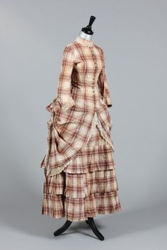 fripperiesandfobs:  Summer dress ca. 1875 FromKerry Taylor...