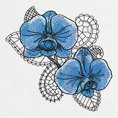 Petals and Lace - Orchid | Urban Threads: Unique and Awesome Embroidery Designs