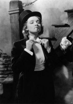 Marlene Dietrich, in Morocco, 1930, dir. Josef von Sternberg