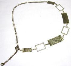 Gold Mesh Chain Belt 70s Rhinestone by sweetie2sweetie on Etsy, $22.99