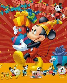 ツ Happy Birthday Images ツ: Mickey Mouse with gifts wish you a Happy Birthday on your special day! Happy Birthday Disney, Wish You Happy Birthday, Birthday Wishes For Kids, Happy Birthday Pictures, Happy Birthday Messages, Art Birthday, Happy Birthday Quotes, Happy Birthday Greetings, Mickey Mouse Birthday