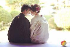 前撮りpost♡おでここつん。#プレ花嫁 #和装前撮 #白無垢#weddingtbt