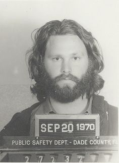 Jim Morrison. Busted.