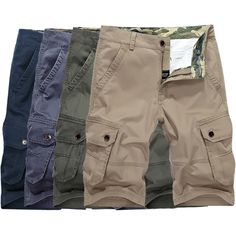 e87cb0cf6d Sale 24% (35.99$) - AFSJEEP Plus Size Mens Military Shorts Multi Pockets