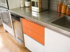 Discover inspiration in these examples of stainless steel kitchen countertop ideas.