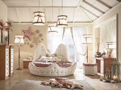 Habitación para niñas de estilo tradicional Stella Marina Colección Cordage by Caroti