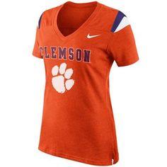 Nike Clemson Tigers Women's Fan Top T-Shirt - Orange