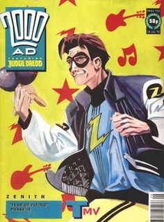 The cover to 2000 AD, Prog 792 (1992), art by Steve Yeowell