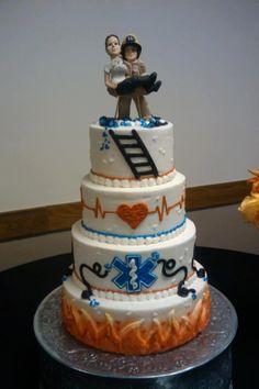 firefighter cakes | EMS/Firefighter cake.. How cool! | Cake Art