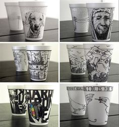 15 Hot Cups of Art: Magic Markers on Coffee-Cup 'Canvas'
