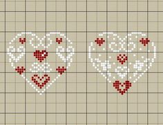 Sauntering Stitches: Home Sweet Home Filet Crochet Pattern Tiny Cross Stitch, Xmas Cross Stitch, Cross Stitch Heart, Cross Stitch Designs, Cross Stitching, Cross Stitch Embroidery, Cross Stitch Patterns, Christmas Hearts, Christmas Cross