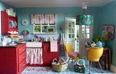 Cath Kidston style mini kitchen by Alexandra Smithson