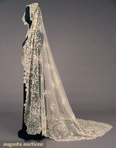 Brussels Lace Veil 1860-1880 by natalia