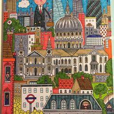 Georgina Black Has Done An Amazing Job On Thomas Flinthams A Stroll In London