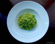Tagliatelle with wild garlic and walnuts. Wild Garlic, Great Recipes, Spaghetti, Tasty, Homemade Food, Ethnic Recipes, Tagliatelle, Noodle