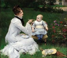 Jules James Rougeron(French, 1841-1880), Mother's Treat, 제작연도 미상