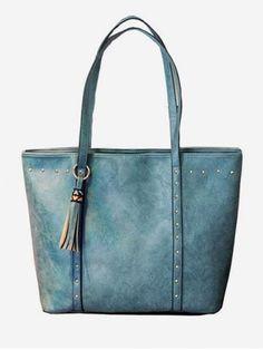 All Purpose Minimalist Rivets Tassels Decoration Tote Bag Types Of Handbags, Trendy Handbags, Luxury Handbags, Mens Fashion Shoes, Fashion Bags, Ladies Fashion, Women's Fashion, Handbags Online, Handbags On Sale