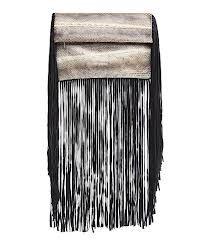 Sam Ubhi - Full Fringed Clutch Bag -Gold Snake Bag with Black Fringe Clutch Bag, Snake, Sequins, Gold, Bags, Jewelry, Handbags, Jewlery, Jewerly