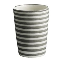 Becher Stripes hand-painted One Size Stripes, Hand Painted, Ceramics, Mugs, Tableware, Interior, Design, Painting, Home