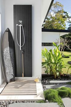 Beside the pool terrace you've got an outdoor shower. The pool house is distinct from the primary house and is beside the… Continue Reading → Outdoor Decor, Outdoor Bathrooms, Outdoor Spaces, Outdoor Shower, Garden Shower, Outside Showers, Outdoor Pool Shower, Outdoor Design, Pool Shower