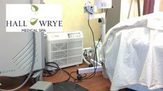 Catalytic PURE AIR purifier is used in the treatment room to reduce air borne contaminants and keep the equipment cool. The laser therapy produces by products and odors that are reduces by the air purifier. Air movement by the air purifier also kept the equipment from overheating and turning off.