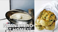 Fresh Homemade Naan Bread On The Stovetop - YouTube