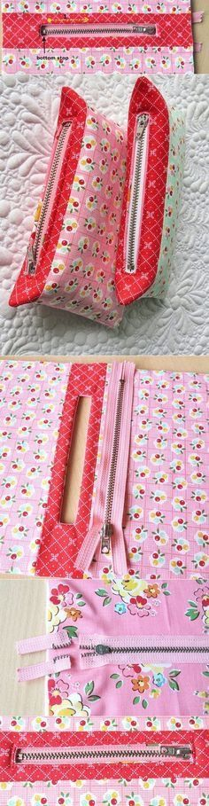 Tendance Sac 2018 : Description How to shorten zippers for pouches and bags – Geta's Quilting Studio - Madame Fashion - Diy Pouch No Zipper, Zipper Pouch Tutorial, Sewing Tutorials, Sewing Crafts, Sewing Patterns, Sewing Projects, Tape Crafts, Diy Couture, Sewing Lessons
