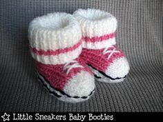 Little Sneakers Baby Booties Knitting Pattern