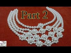 #6 (PART 2) How to Make Pearl Beaded Necklace || Diy || Jewellery Making - YouTube