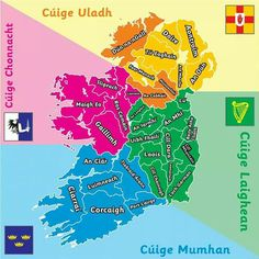I am from Dublin => Is as Baile Átha Cliath mé. We are from Mayo = Is as Maigh Eo muid Irish Customs, Ireland Map, Ireland Travel, Gaelic Words, St Brigid, Celtic Nations, Irish Language, Irish Pride, Irish Roots