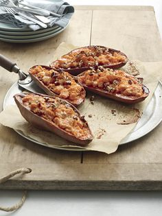 Twice-Baked Potatoes with Bacon.