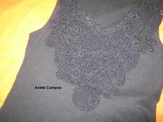 Anete: customização com croche irlandes